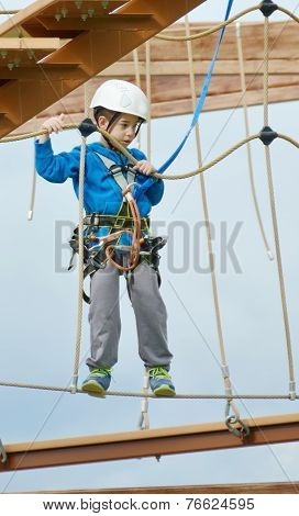 Little Boy On The Roap Course Sky Trail