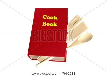 Red Cook Book Isolated