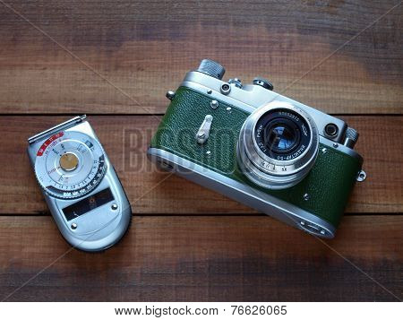 Retro style camera and photometer