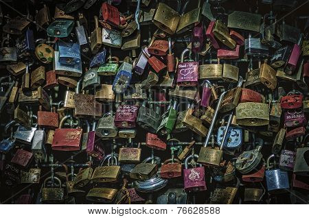 Hohenzollern Bridge and Its  Many Padlocks