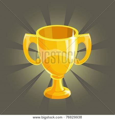 Cartoon gold winner cup