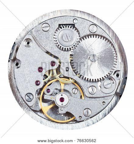 Round Mechanic Clockwork Isolated On White