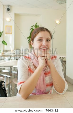 Girl In  Lunchroom