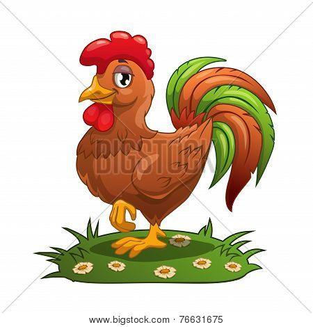 Cartoon cock