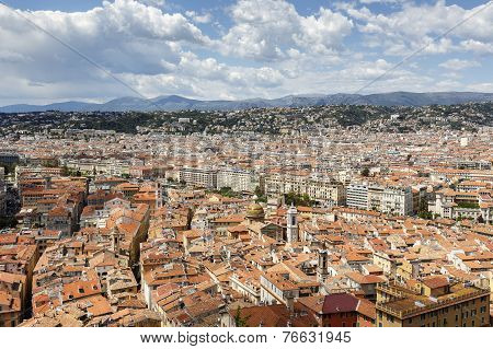 Old Town Of Nice Seen From Castle Hill