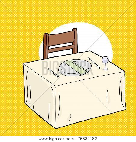 Fancy Table Over Yellow