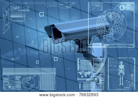 cctv camera technology on screen display poster id:76632893, Presentation templates
