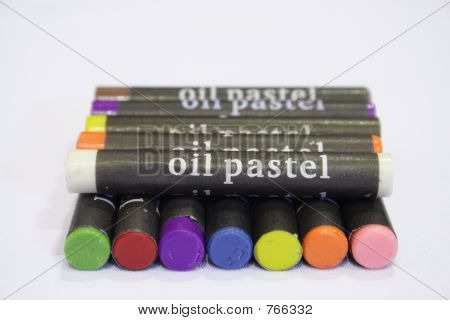 Stacked Oil Pastels
