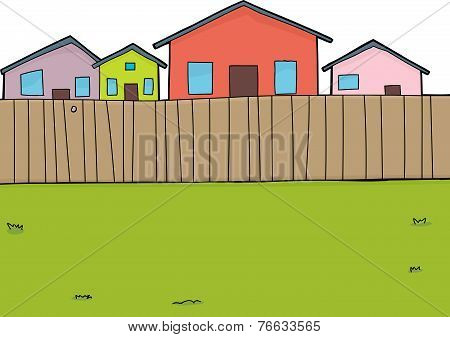 Suburban Backyard Background