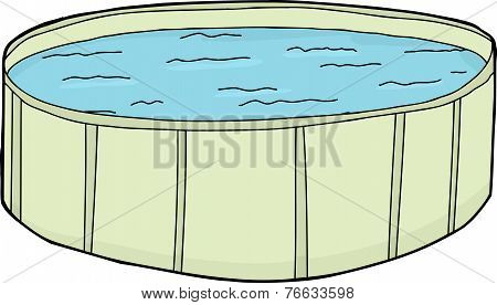 Full Green Swimming Pool