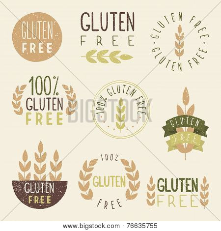 Gluten free labels.
