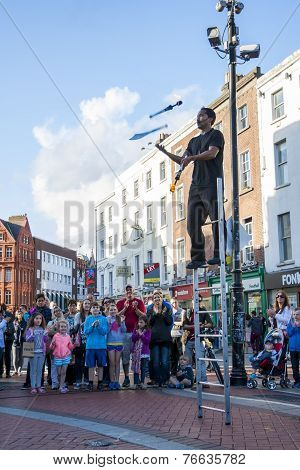 Juggler Performing On Grafton Street