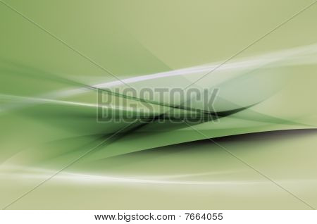 Abstract green waves or veils background texture