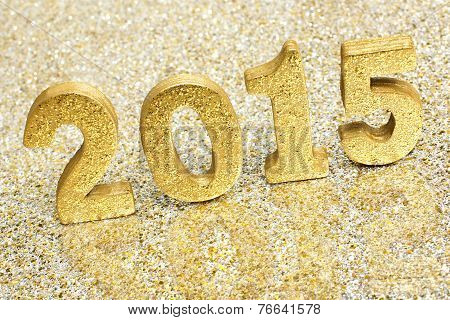 New Years Eve 2015 gold numbers