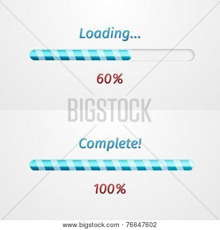 Blue loading bars