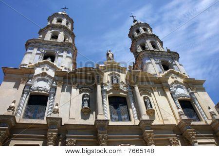 Church At San Telmo In Buenos Aires, Argentina