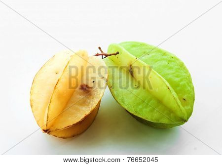 Green And Yellow Star Fruit