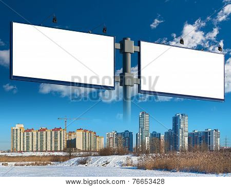 Two Billboard And Apartment Complex
