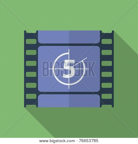 Icon Of Film Frame. Cinema Film. Flat Style