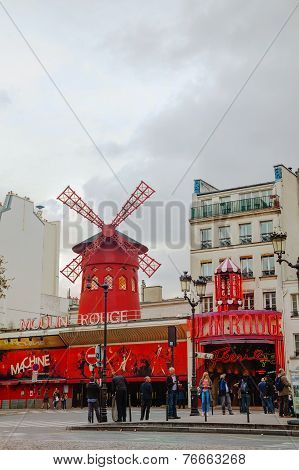 The Moulin Rouge Cabaret In Paris
