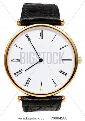 Five Minutes To Eight O'clock On Dial Wristwatch