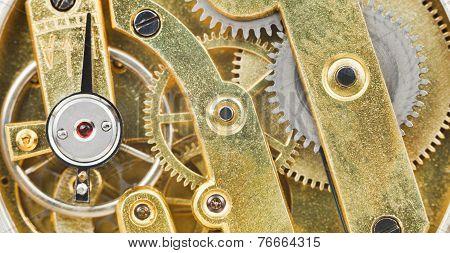 Background From Brass Mechanical Clockwork