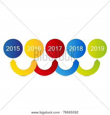simple timeline vector graphic