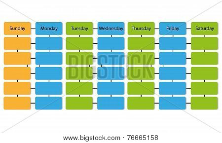 schedule infographic vector background