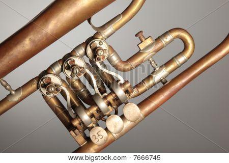 Old trumpet (detail)