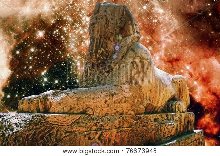 Alabaster Sphinx And Tarantula Nebula (elements Of This Image Fu