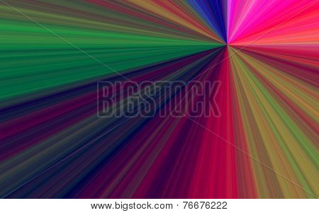 Illustration Of Colorful Sunburst - Digital High Resolution