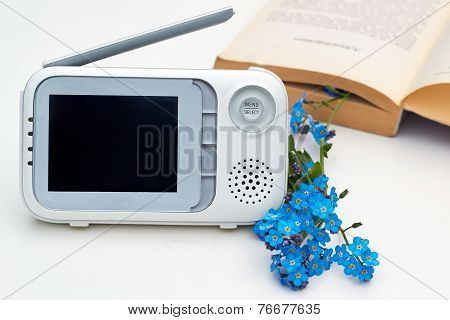 The Close-up Baby Monitor For Security Of The Baby
