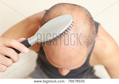 brushing thin hair