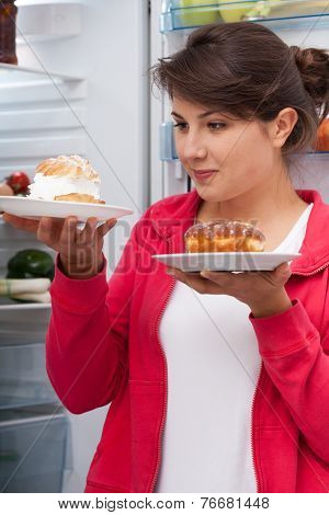 Woman And Pastries
