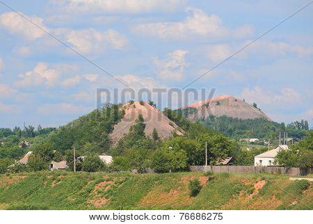 terricones in Donetsk, eastern Ukraine