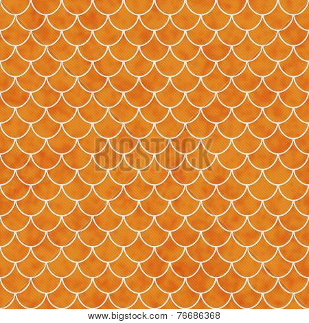 Orange And White Shell Tiles Pattern Repeat Background
