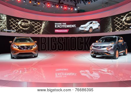 Nissan Murano Concept 2015 And Nissan Juke 2015 On Display