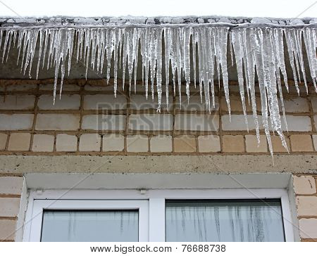 Icicles Hanging On The Eaves