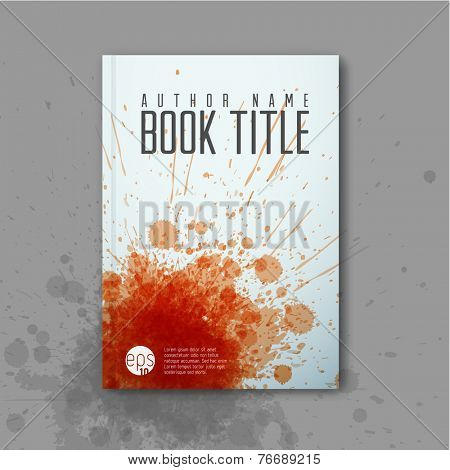 Modern Vector abstractbook cover template for detective/mystery story