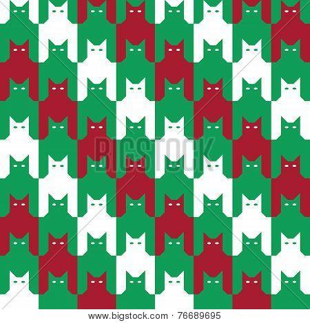 Catstooth Christmas Pattern