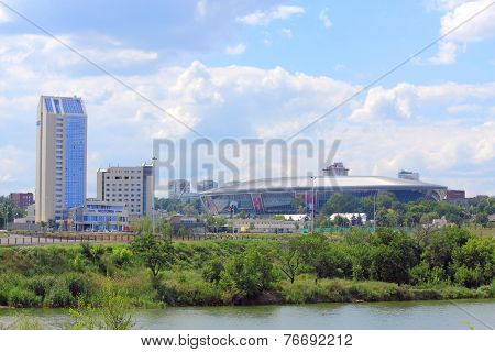 Donbass arena and its surroundings