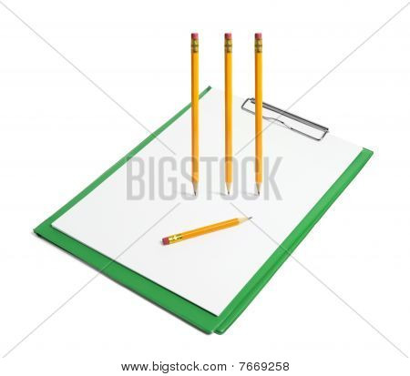 Clipboard With Pencils