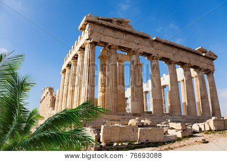 Parthenon temple in Acropolis, Athens, Greece