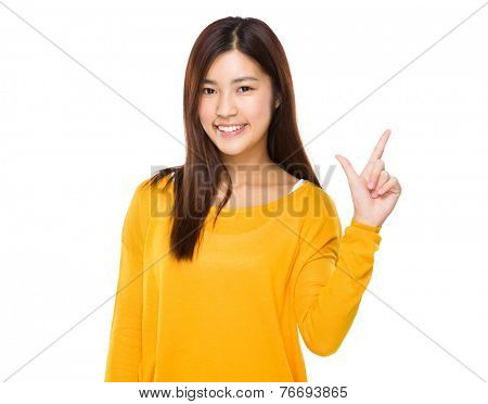 Asian Woman with tick sign