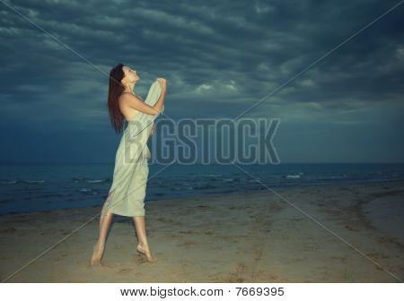 Beauty at the night beach