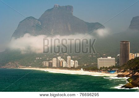 Rio de Janeiro Coastline with Mountains