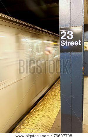 New York City - September 01: Subway Wagon On September 01, 2013 In New York City.