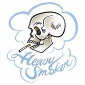stock photo of smoker  - Heavy smoker  - JPG