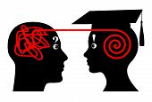 picture of mentoring  - Mentor assists student in his academic studies - JPG