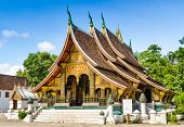 image of thong  - Wat Xieng Thong Buddhist temple in Luang Prabang World Heritage Laos - JPG